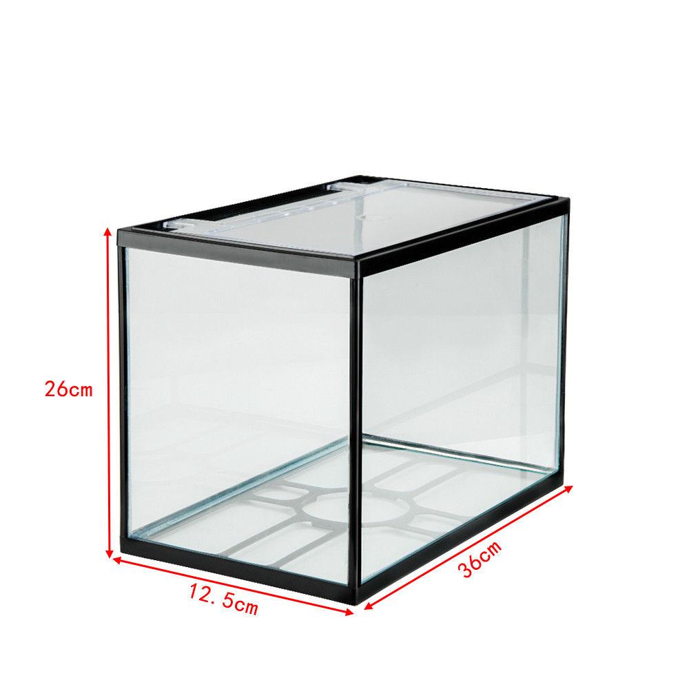 Glass aquarium fish tank starter kit set filter pump net for Glass fish tank