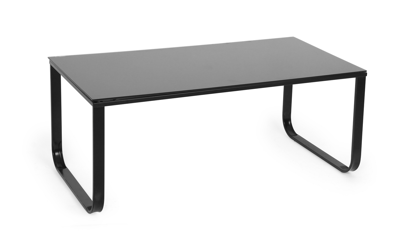 Modern Rectangle Black Glass Iron Leg Coffee Table End Accent Table Living Room Ebay