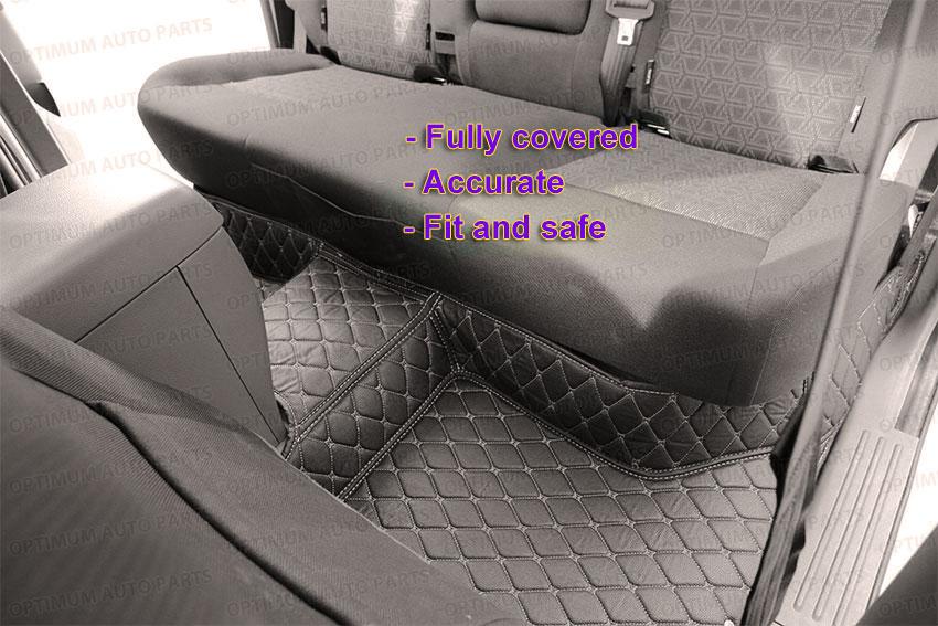 3d Pu Black Leather Floor Mats Carpet To Suit Ford Ranger