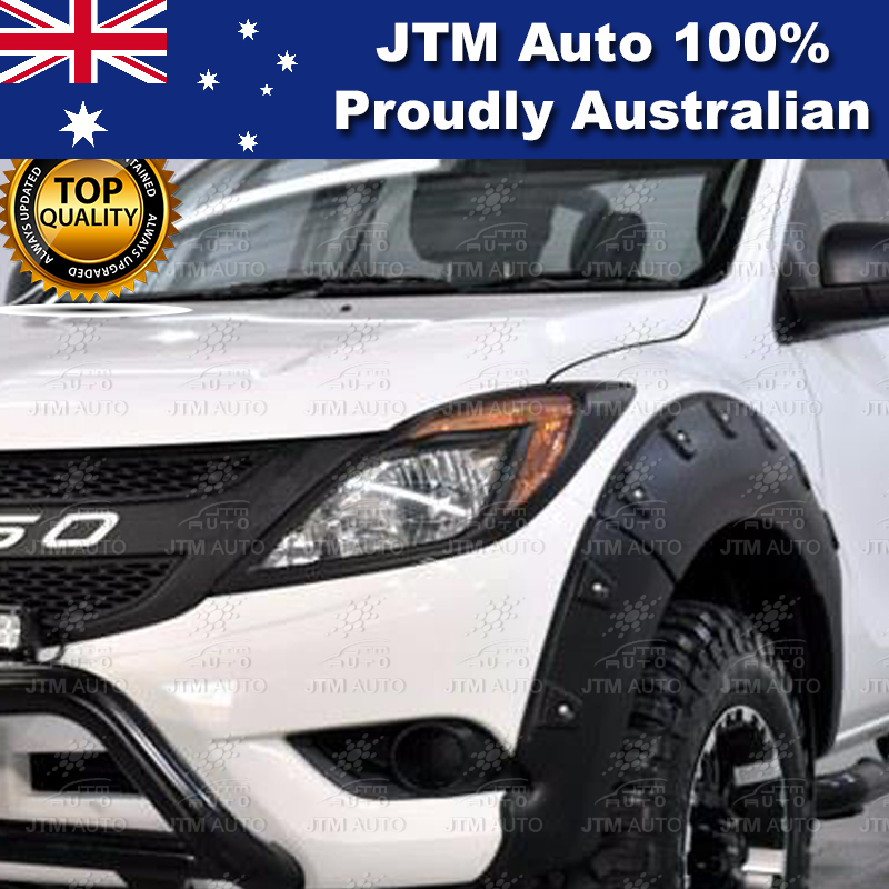 MATT Black Head Light Cover Protector to suit Mazda BT-50 BT50 2012-2018
