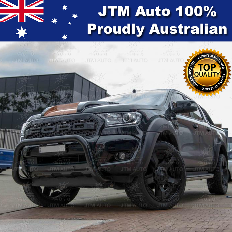 "ADR Approved Black 3"" Nudge Bar Suits Ford Ranger Tech Pack + Sensor 2015-2018"