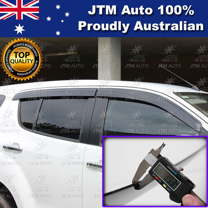 Injection Isuzu MUX MU-X Weathershields Window Visors Weather shields 2013-2018