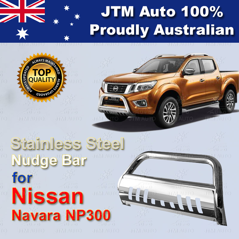 "For Nissan Navara D23 Np300 Nudge Bar 3"" Stainless Steel Grille Guard 2014-2018"