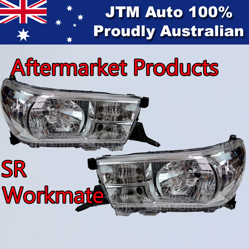 Pair of LHS+RHS Head Lights Suitable For Toyota Hilux SR Workmate 2015-2017