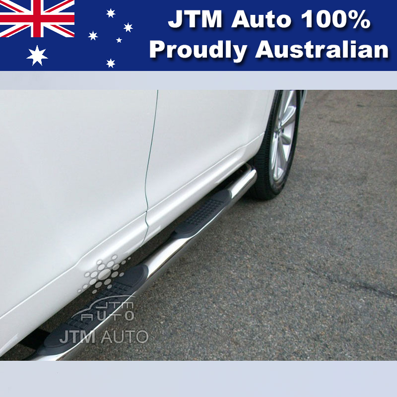 "Running Board Side Steps 3"" Stainless Steel Suitable For Toyota Kluger 2007-2013"