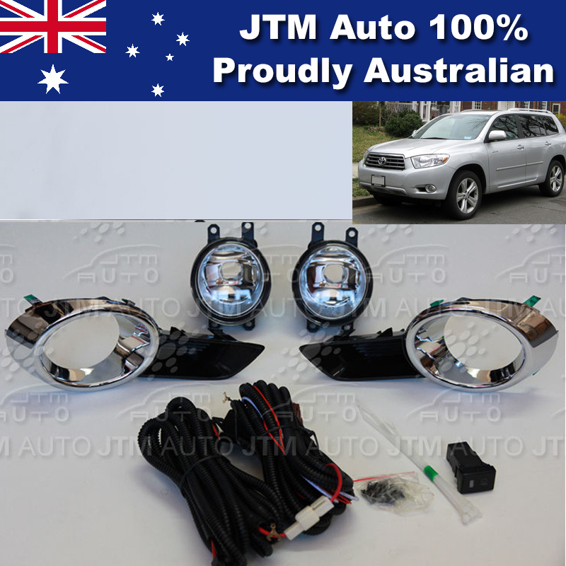 Driving/Fog Lights Lamps Complete Kit Suitable For Toyota Kluger 2007-2010