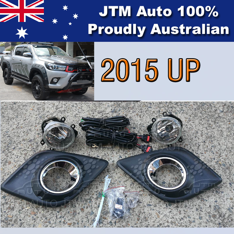 Driving/Fog Lights Lamps Complete Kits Suitable For Toyota Hilux 2015-2017