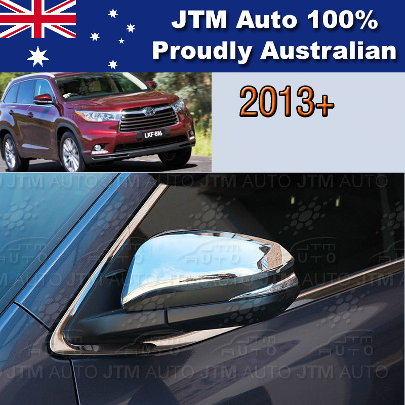 Chrome Door Mirror Garnish Cover Suitable For Toyota Kluger 2014-2018