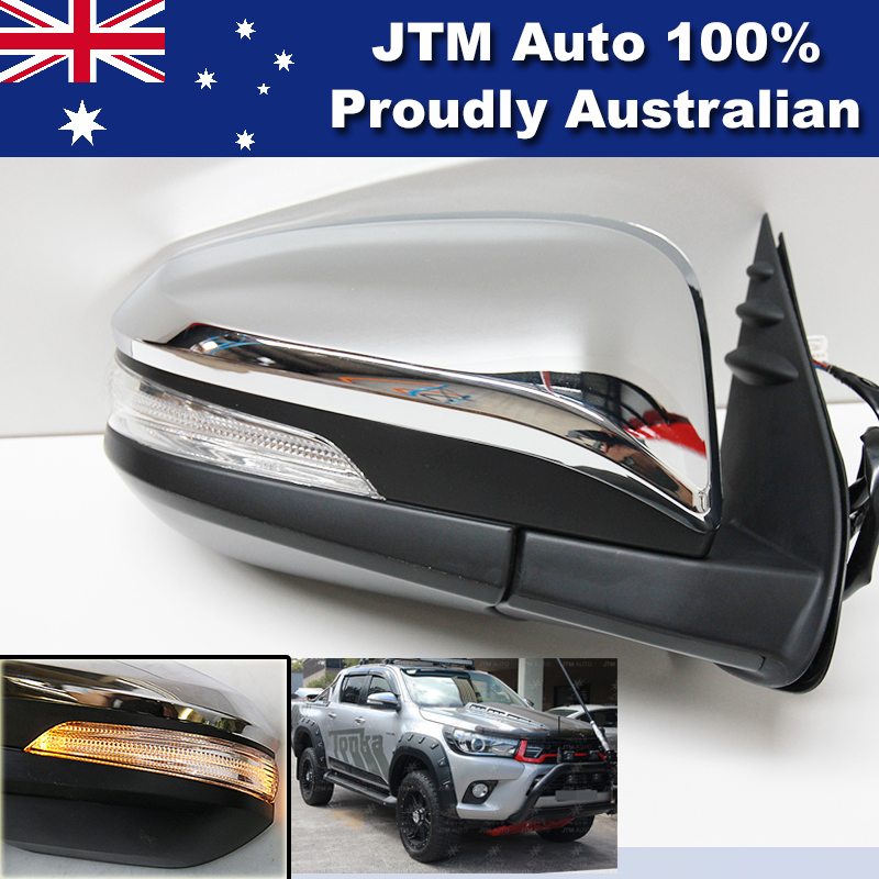 POWER / ELECTRIC Mirror + LED Indicator Light RHS to suit Toyota Hilux 2015-2018