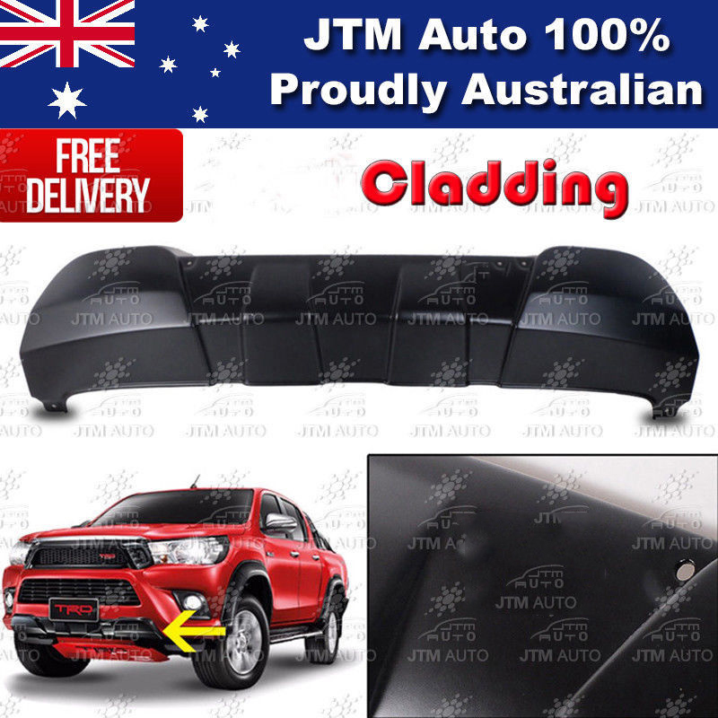 Front Bumper Cladding Guard suitable for Toyota Hilux 2015-2018