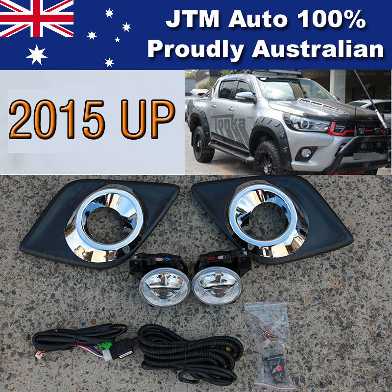 Driving/Fog Lights Lamps Complete Kit Suitable For Toyota Hilux 2015-2018