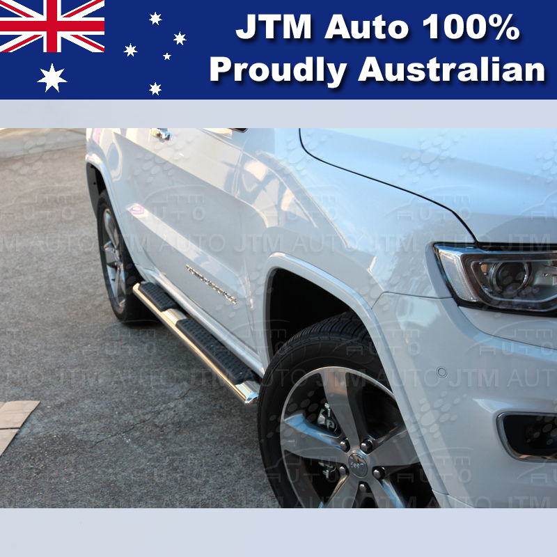 """Running Boards Side Steps 4"""" Stainless Steel suit Jeep Grand Cherokee 2011-2018"""