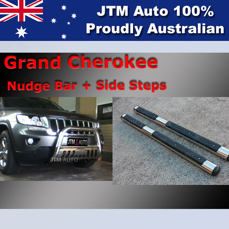 Side Steps + Nudge Bar Stainless Steel to suit Jeep Grand Cherokee 2011-2018