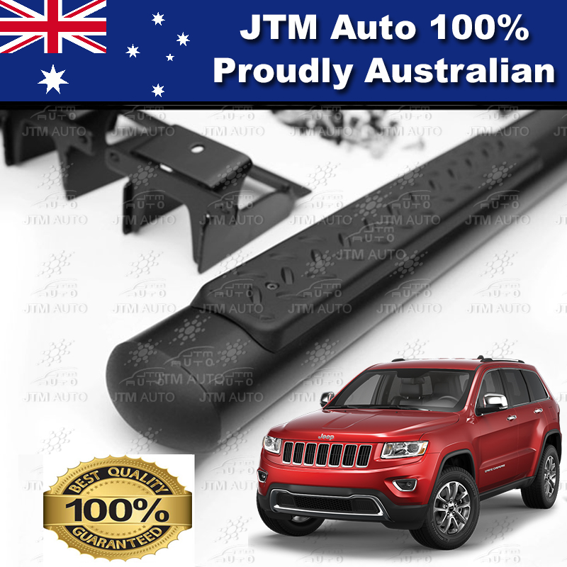 "Matte Black 4"" Running Boards Side Steps to suit Jeep Grand Cherokee 2011-2018"