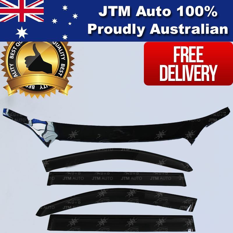 Bonnet Protector Guard + Weather Shields Visors to suit Toyota Kluger 2007-2010