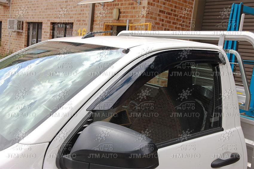 Premium Weather Shields Window Visors to suit Toyota Hilux Single cab 2015-2018