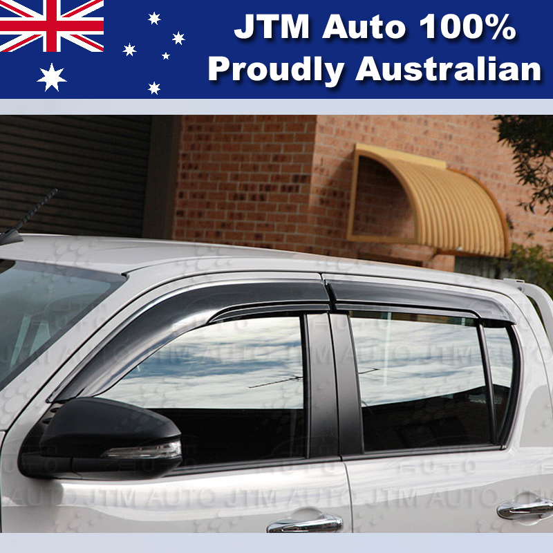 Premium Weather shield Set of 4 Window Visor to suit Toyota HILUX 2015-2018
