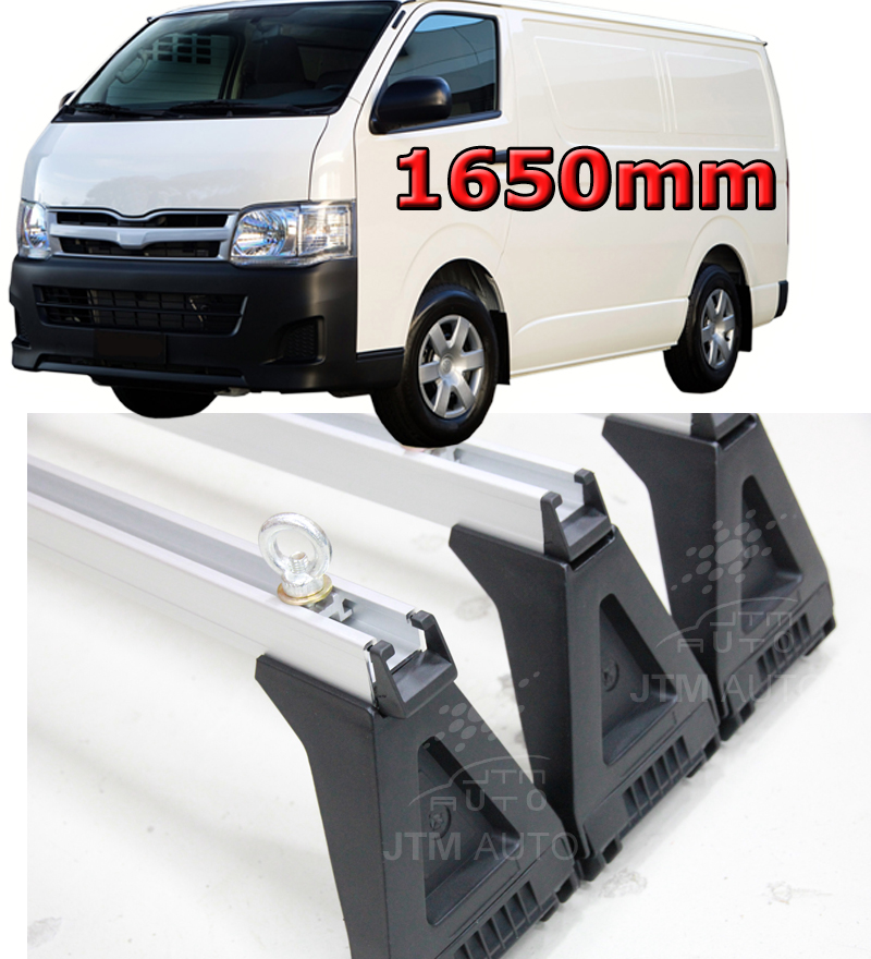 3 X 1650mm HEAVY DUTY ROOF RACKS to suit Toyota Hiace LWB HIACE 2005-2018