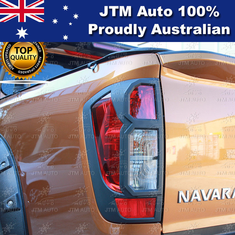 MATT Black Tail Light Cover Protector to suit Nissan Navara NP300 D23 2014-2018