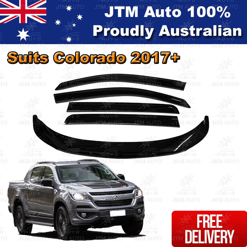 Bonnet Protector + Weather Shields Visor suit Holden Colorado Dual Cab 2016-2018