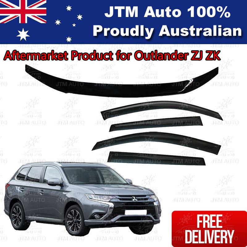 Bonnet Protector + Weathershield Visors for Mitsubishi Outlander ZJ ZK 2012-2018