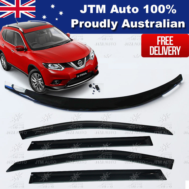Bonnet Protector + Weather Shields Window Visor For Nissan X-trail T32 2014-2018