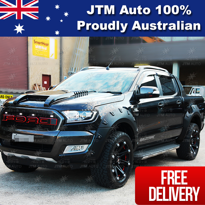Matt Black Bonnet Scoop Hood Raptor Style To Suit Ford