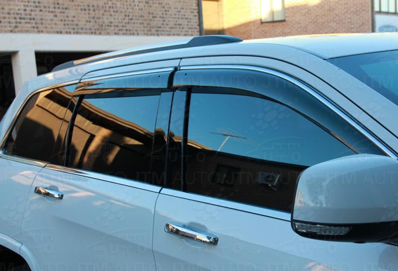 Chrome Weather Shield Weathershield Window Visor for Jeep Grand Cherokee 10-18