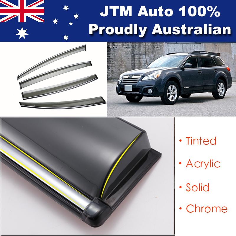 IJ Chrome Weather Shield Weathershield Window Visor For Subaru Outback 2009-2014