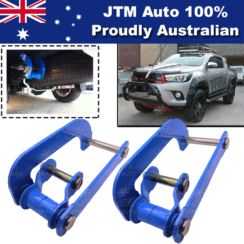 Rear Leaf Alloy Spring G Shackle Shackles to suit Toyota Hilux Revo 2015-2018