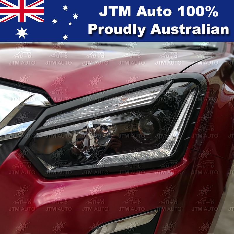 MATT Black Head Light Cover Trim to suit Isuzu D-max DMAX 2016-2018