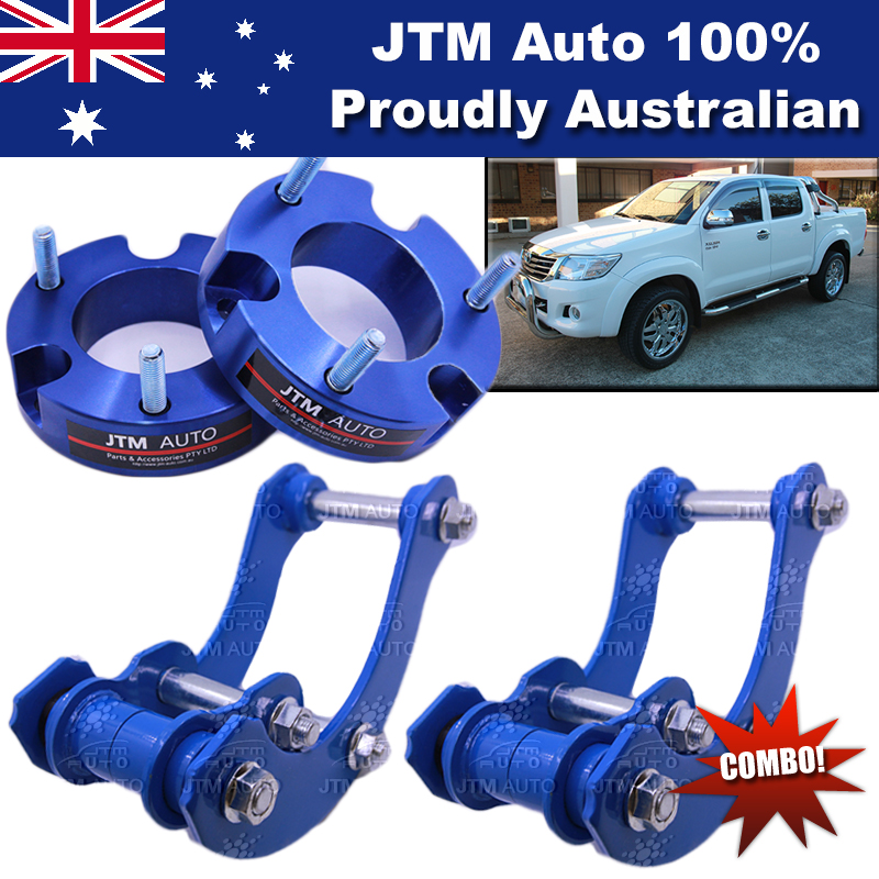 Lift Kit Strut Front Spacers + Rear G-Shackle to suit Toyota Hilux 2005-2014
