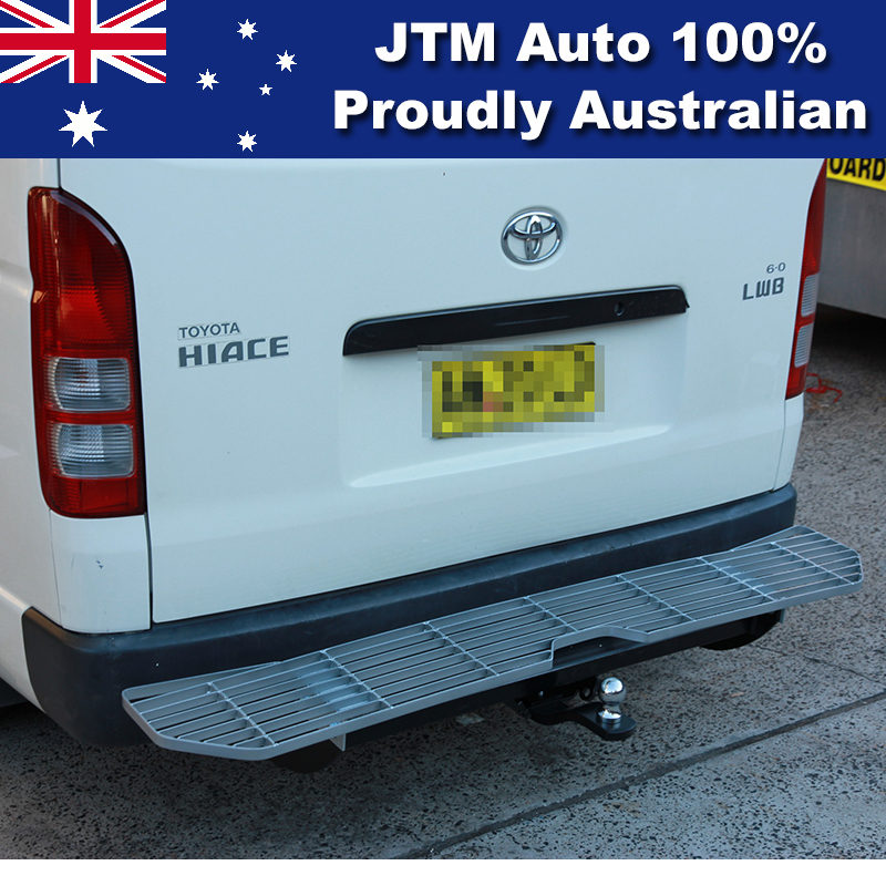 Alloy Rear Step Bumper Bar TOWBAR to suit Toyota Hiace 2005-2018 LWB Only