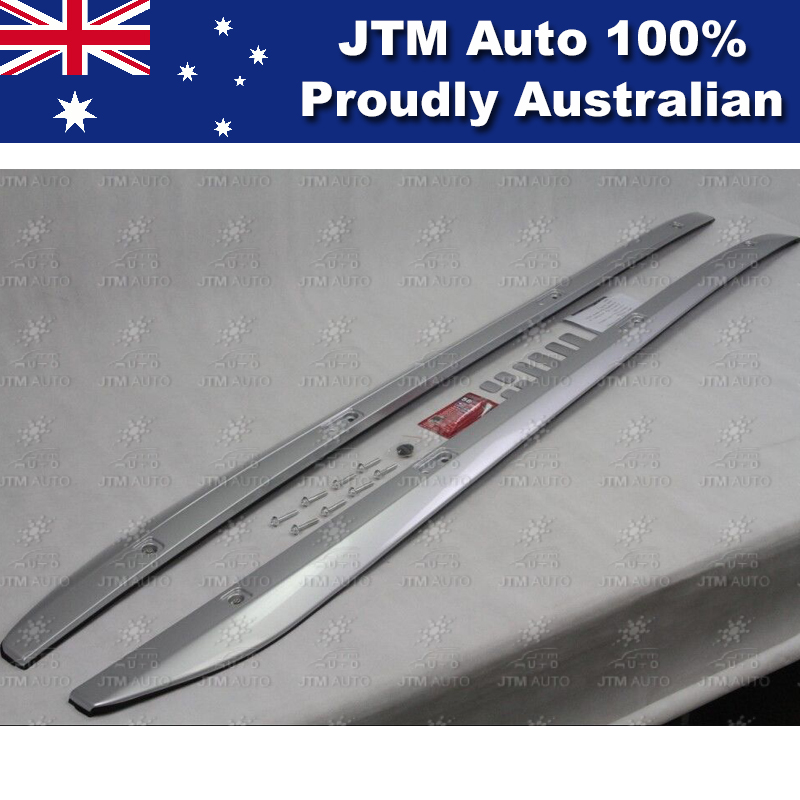 Silver Roof Rack Rails to suit a Toyota Kluger 2014-2018