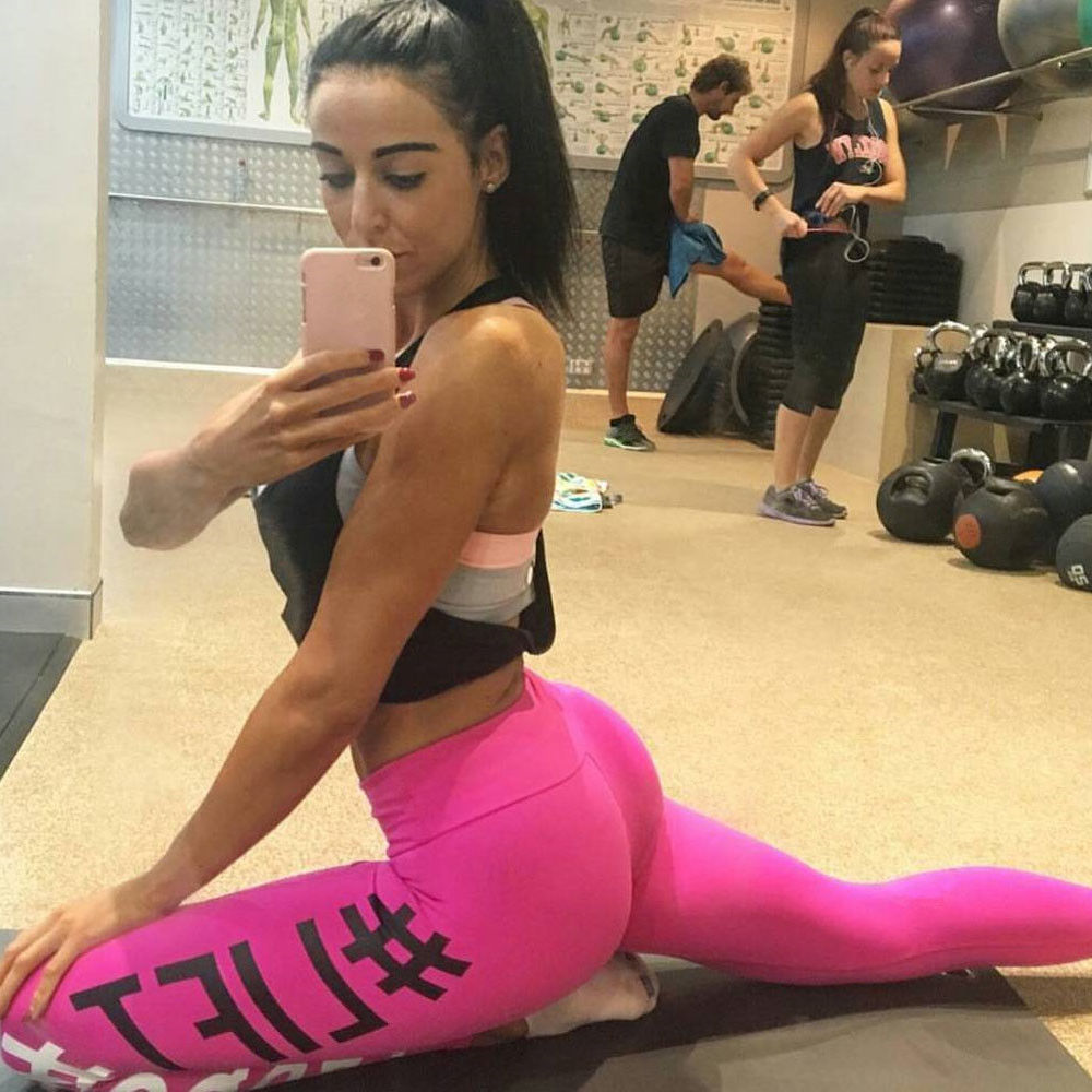 Women Yoga Running Pants Gym Workout Fitness Clothes