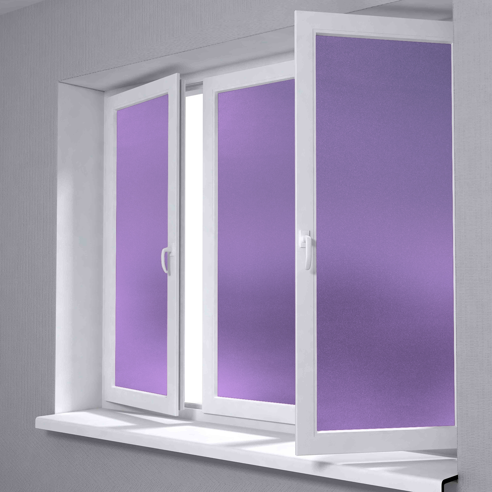 12 x48 purple frosted film glass home bathroom window security privacy sticker ebay. Black Bedroom Furniture Sets. Home Design Ideas