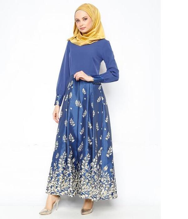 Muslim Long dresses Islamic Dubai Cocktail dress Women Lady Maxi ...