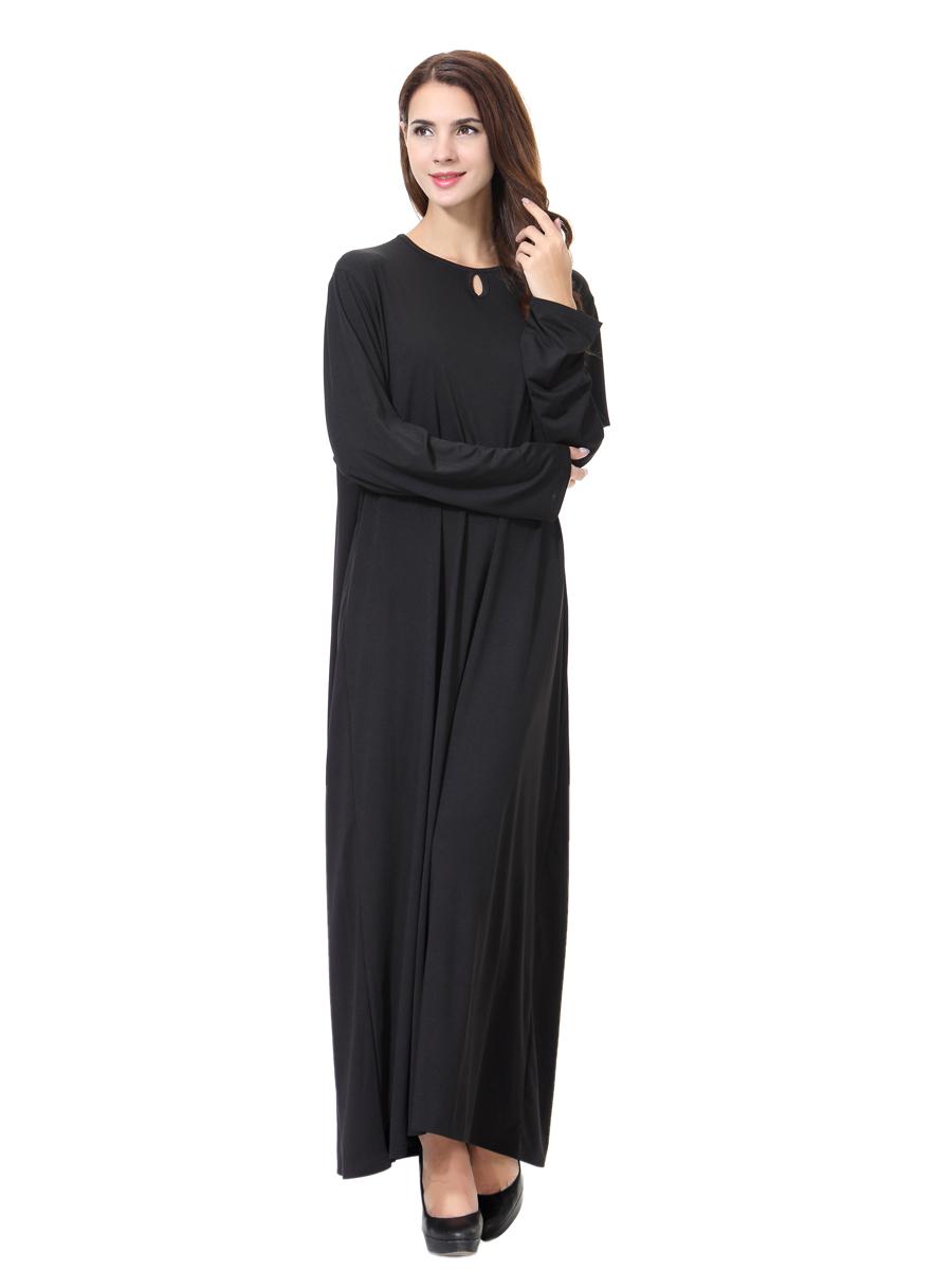 Muslim Ladies Long Abaya Kaftan Women Cocktail dress Islamic Lady ...