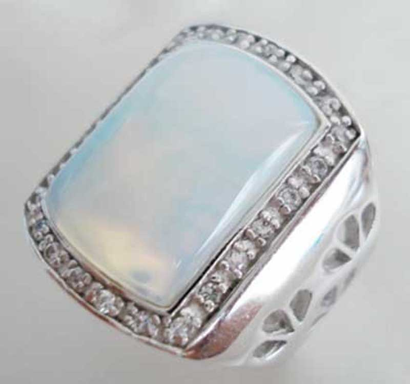 Men Fashion Rings Agate Turquoise Jade Jewelry New Style Rings Men ...