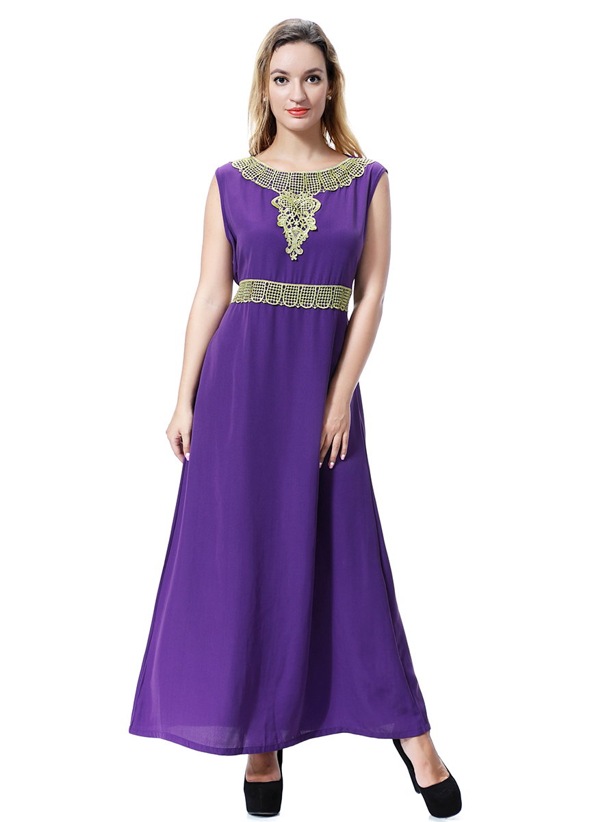 Women Muslim Abaya Dubai Kaftan Islamic Robe Long Maxi Cocktail ...