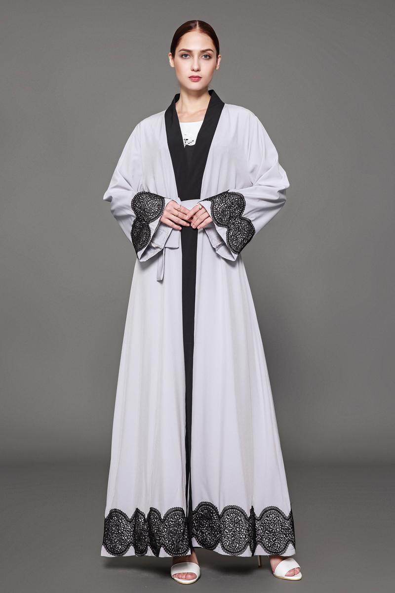 Dubai Muslim Women Gowns Open Front Cardigan Long Maxi Dresses Abaya ...