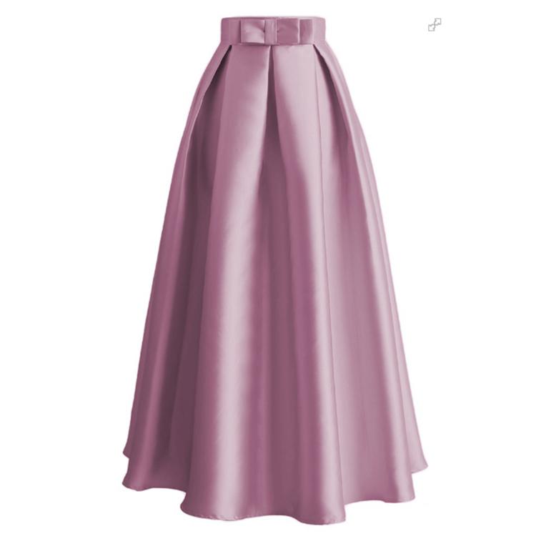 Women Vintage Princess Bow Long Tulle Skirt Muslim High Waist Tutu Skirts Dress