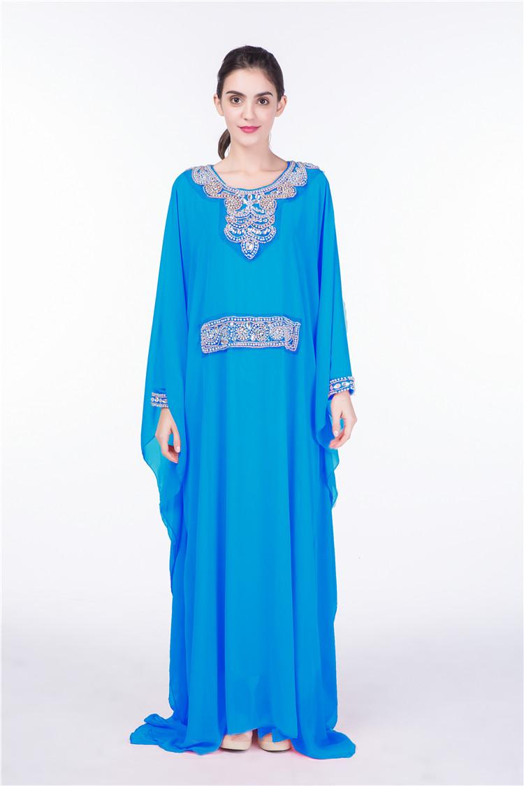 Fancy Dubai Chiffon Gowns Muslim Women Long Maxi Loose Party Dress ...
