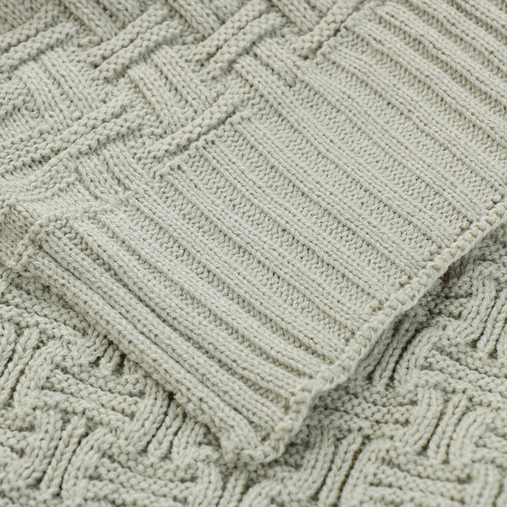 Air Condition Soft Blanket Bedding Knitting Pattern Sofa Protable ...