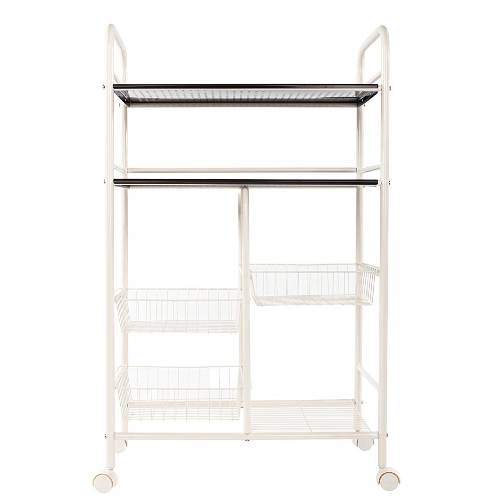 Kitchen organizer rack bathroom cabinet trolley food - Bathroom storage cart with wheels ...