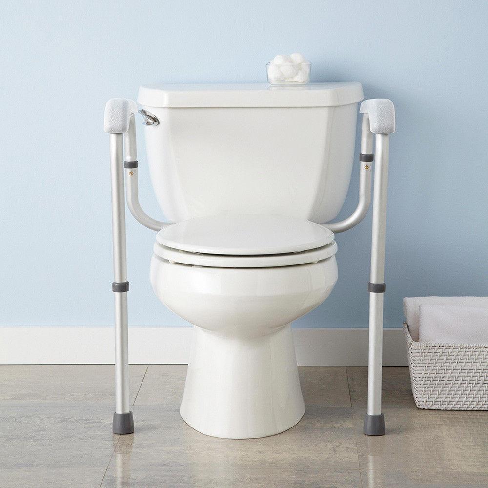 Toilet Support Rail Grab Bars Adjustable Safety Handicap ...