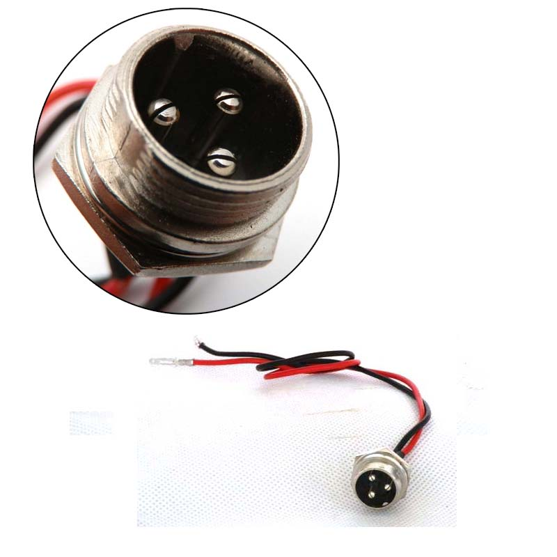 16mm chargeur batterie port 3prong prise pour 12v lectrique ou gaz scooter ebay. Black Bedroom Furniture Sets. Home Design Ideas