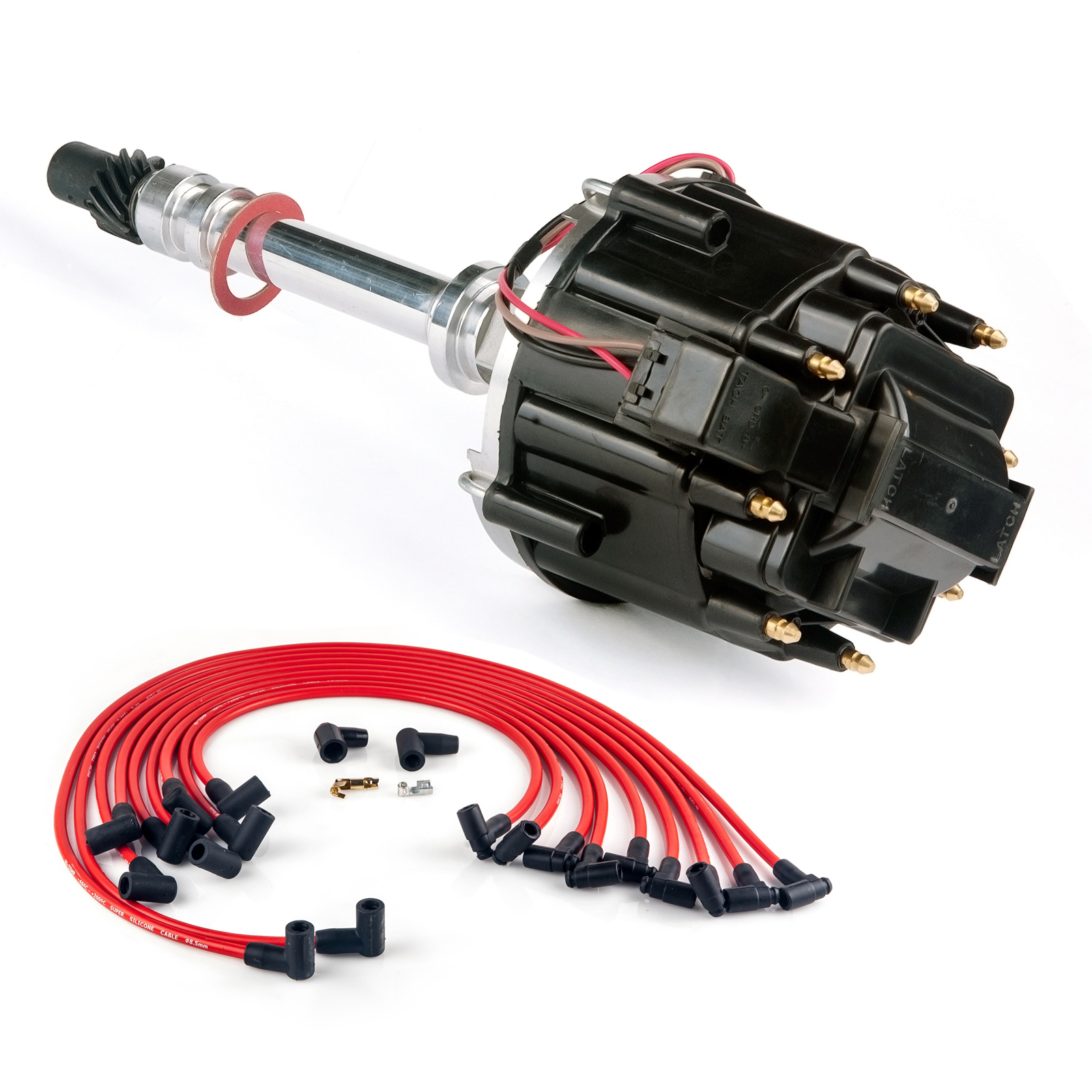 Chevy Sbc 283 305 327 350 400 Hei Spark Plug Wires Kit Black Wiring Distributor With