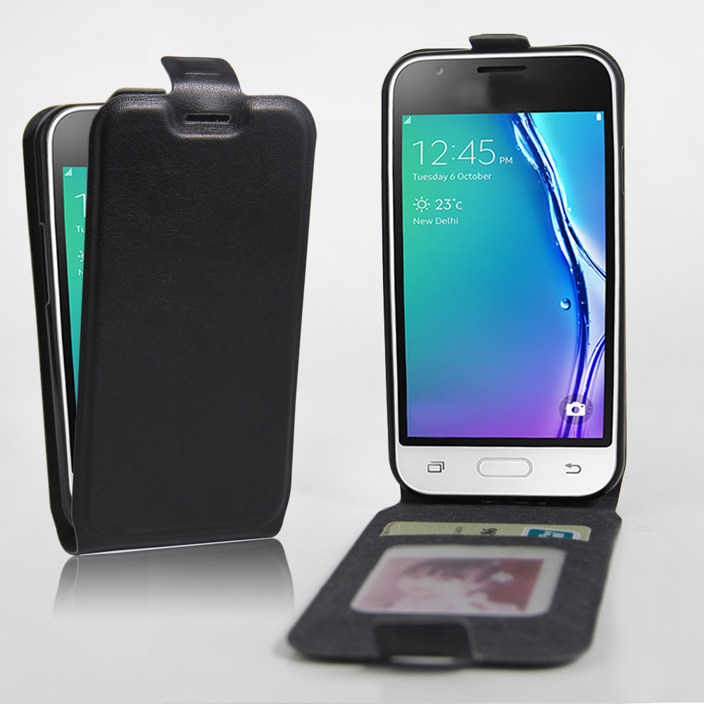 buy popular ce57f a8af9 Details about Premium Slim FLIP Leather Case Cover For Samsung Galaxy J1  mini