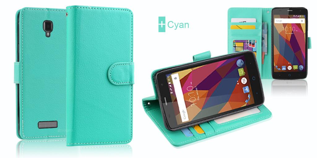 best website de173 f0d33 Premium Leather Wallet Case Cover Telstra Slim Plus + Stylus&Cable + ...